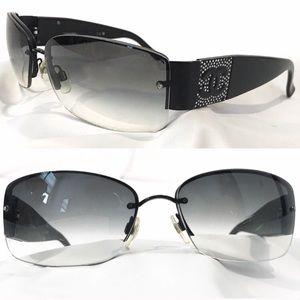 CHANEL Authentic Sunglasses Rhinestone Cc Crystal
